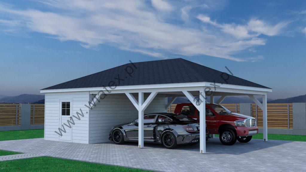 wiata z dachem kopertowym