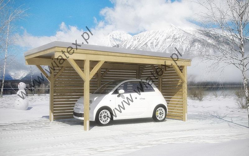 wiata garażowa jednostanowiskowa - 3x5
