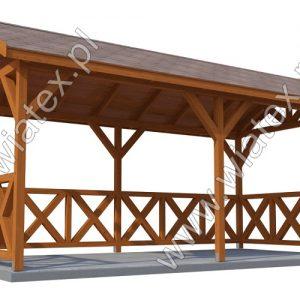 altana ogrodowa z dachem dwuspadowym