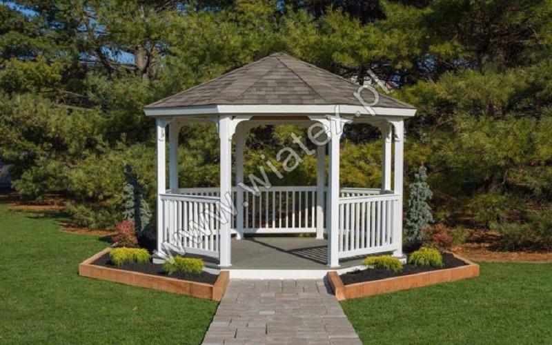 okrągła altana ogrodowa