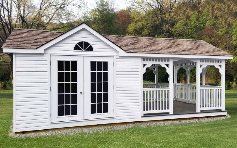 altana ogrodowa biała