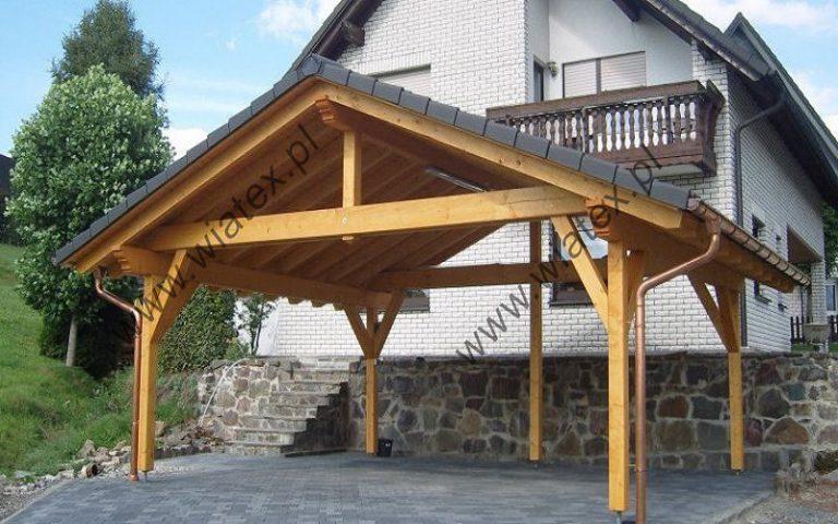 drewniana wiata samochodowa 5x6