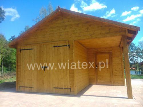 garaż drewniany G14